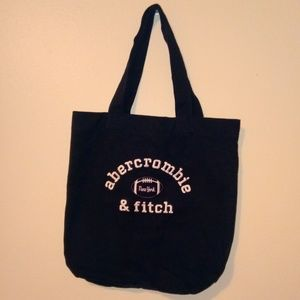 "Abercrombie & Fitch Navy Blue Tote Bag 15"" x 14"""